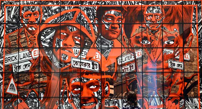 اثری از گیلبرت و جورج در گالری مکعب سفید لندن