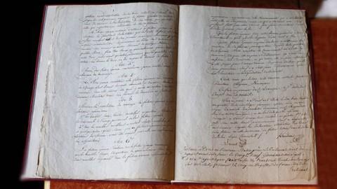 حراج سند ازدواج ناپلئون و ژوزفین در مزون اوزنات در پاریس