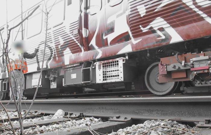 گرافیتی بر روی قطار