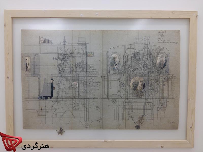 مروری بر کلاژ های فرشید لاریمیان در گالری محسن
