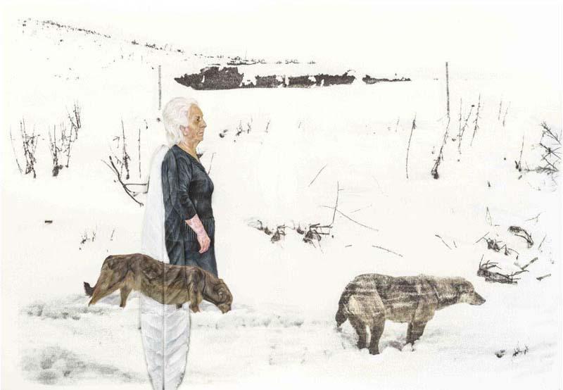 نقاشی های سارا قنبری در گالری آران