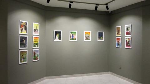 نقاشی های محمد جعفر پاکروان در گالری فرزاد