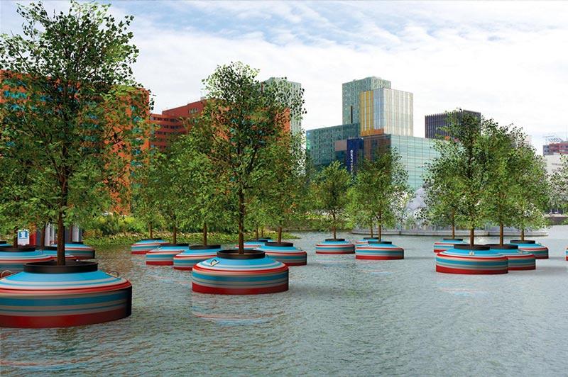 جنگل شناور در رتردام