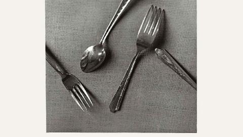 عکسی که یک معماست: یک یا دو قاشق ، دو یا سه چنگال