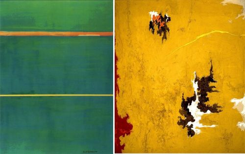 Left-Barnett-Newman-Dionysius-1949-Right-Clyfford-Still-1948-C