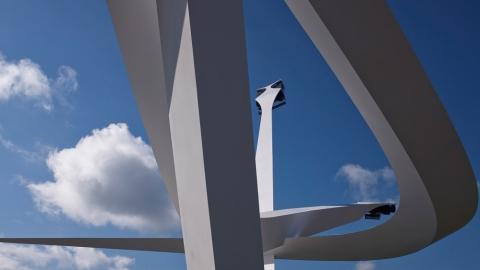 رونمایی از مجسمه ی عظیم جری یودا Gerry Judah