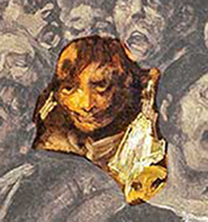 تصویر ناپلئون برجسته شده در تابلوی زیارت سن ایزیدرو