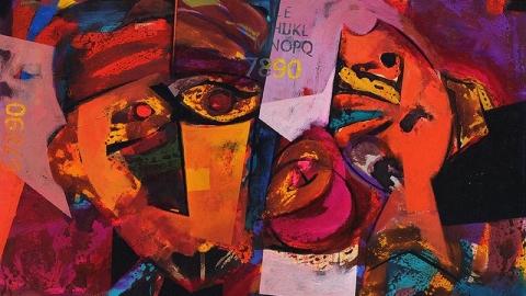 نقاشی های شیرین معیا در گالری سبحان