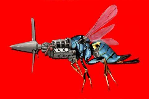 نقاشی های رابرت بونز از دوگانه های ماشین و حیوان