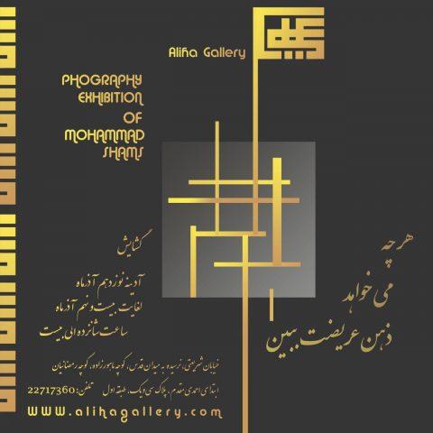 نمایشگاه انفرادی عکاسی محمد شمس در گالری علیها