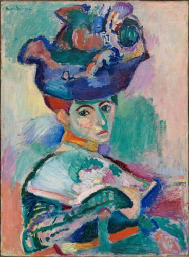 زنی با کلاه - 1905
