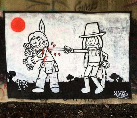 تکرار تاریخ در گرافیتی های تازه ای از لوپس به مناسبت روز شکرگزاری – هنرگردی