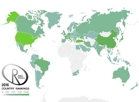 رتبه بندی جهانی کشورها در حوزه طراحی و موقعیت ایران