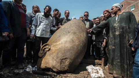 کشف مجسمه غول پیکر ۳۰۰۰ ساله از رامسس دوم فرعون مصر