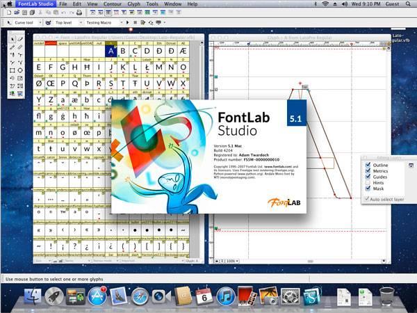 طراحی فونت FontLab Studio