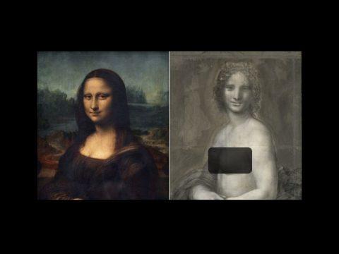 پیدا شدن نسخه برهنه مونالیزا در فرانسه
