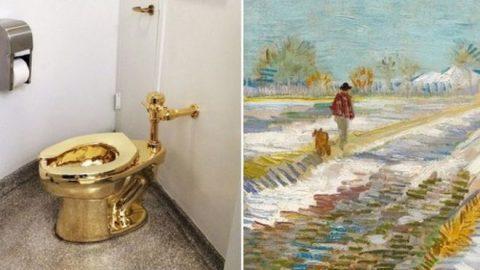توالت طلایی به جای تابلوی ون گوگ برای ترامپ